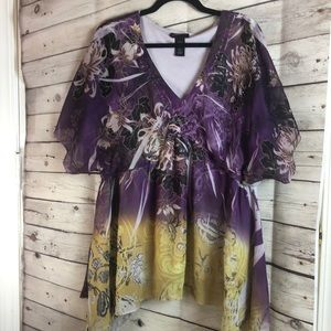 Lane Bryant Paisley Butterfly Wing Top